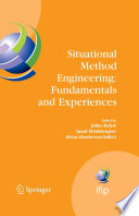Situational Method Engineering  Fundamentals and Experiences Book