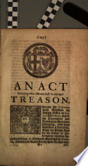 An Act Declaring what Offences Shall be Adjudged Treason Book
