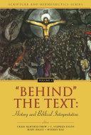 Pdf 'Behind' the Text: History and Biblical Interpretation