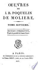 Oeuvres de J. B. Poquelin de Moliere