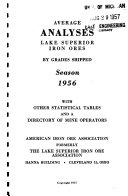 Average Analyses  Lake Superior Iron Ores Book