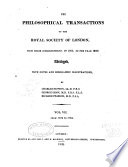 The Philosophical Transactions of the Royal Society of London