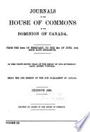 Journals of the House of Commons of Canada Book PDF