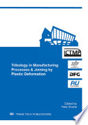 Tribology in Manufacturing Processes   Joining by Plastic Deformation