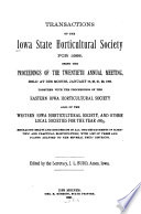 Transactions of the Iowa State Horticultural Society for     Book