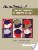 Handbook Of Clinical And Experimental Neuropsychology
