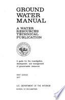 Ground water manual