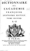 Dictionnaire de l'Académie Françoise