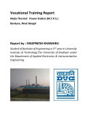 DVC MTPS PROJECT REPORT    INSTRUMENTATION   CONTROL ENGINEERING