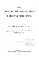 On the Causes of War  and the Means of Reducing Their Number