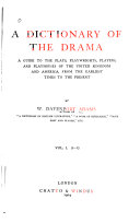 A Dictionary of the Drama