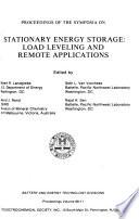 Proceedings of the Symposia on Stationary Energy Storage