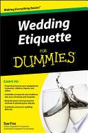 Wedding Etiquette For Dummies Pdf/ePub eBook