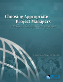 Choosing Appropriate Project Managers