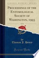 Proceedings of the Entomological Society of Washington, 1993, Vol. 95 (Classic Reprint)