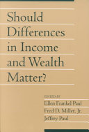 Should Differences in Income and Wealth Matter?: Volume 19