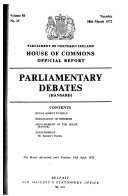Parliamentary Debates  Hansard  House of Commons Official Report