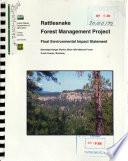 Black Hills National Forest (N.F.), Rattlesnake Forest Management Project