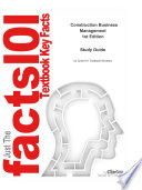 e-Study Guide for: Construction Business Management by John E. Schaufelberger, ISBN 9780130907868