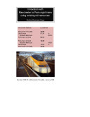 Innovation with Manchester to Paris Night Trains using Existing Rail Resources  Outline Business Case