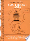 Accessions List: Southeast Asia