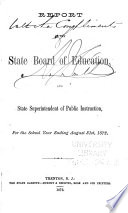 Report of the State Board of Education and State Superintendent of Public Instruction for the School Year Ending     Book
