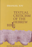 Pdf Textual Criticism of the Hebrew Bible