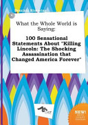 What the Whole World Is Saying Book