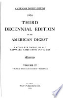 Decennial Edition of the American Digest