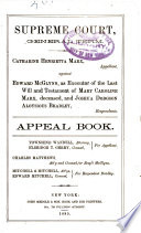 Catharine Henrietta Marx Against Edward McGlynn