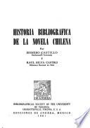 Historia bibliográfica de la novela chilena