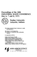 Proceedings of the Industrial Waste Conference Book