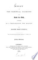 Essay On The Habitual Exercise Of Love To God