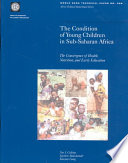 The Condition Of Young Children In Sub Saharan Africa Book
