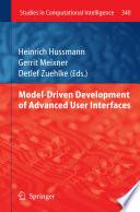 Model Driven Development of Advanced User Interfaces Book