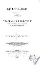 The Land of Israel  a journal of travels in Palestine Book PDF