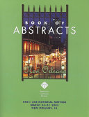 Book of Abstracts 225th ACS National Meeting