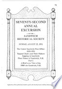 72nd Annual Excursion Of The Sandwich Historical Society
