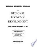 Federal Advisory Council on Regional Economic Development; Ninth Meeting - December 21, 1971