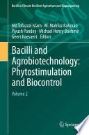 Bacilli and Agrobiotechnology  Phytostimulation and Biocontrol