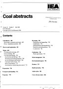 Coal Abstracts