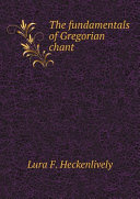 Pdf The fundamentals of Gregorian chant Telecharger