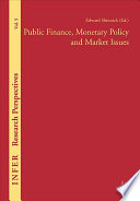 Public Finance  Monetary Policy and Market Issues