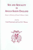 Sex and Sexuality in Anglo Saxon England