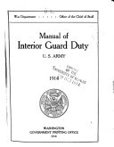 Manual of Interior Guard Duty  U S  Army  1914