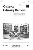 Ontario Library Review Book