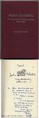 Allen Ginsberg, an Annotated Bibliography, 1969-1977