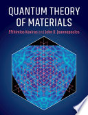 Quantum Theory of Materials Book