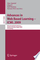 Advances In Web Based Learning Icwl 2009 Book PDF