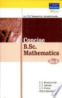 Concise B.Sc Mathematics 3 & 4(Karnatak)